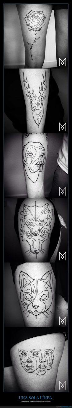 Estos tatuajes son una sola línea... Para FLI-PAR :O - Es suficiente para crear un magnífico tatuaje Gracias a http://www.cuantarazon.com/ Si quieres leer la noticia completa visita: http://www.estoy-aburrido.com/estos-tatuajes-son-una-sola-linea-para-fli-par-o-es-suficiente-para-crear-un-magnifico-tatuaje/