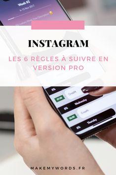 Instagram : découvrez 6 règles à suivre pour gagner en visibilité sur Instagram en version professionnelle Instagram Pro, Instagram Marketing Tips, Social Networks, Social Media Marketing, Application Instagram, Community Manager Freelance, 9 Mai, Inbound Marketing, Entrepreneur