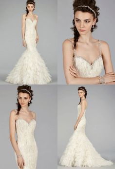 Lazaro wedding dress 2014 fall collection.