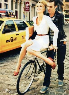 bicycle. sexy couple