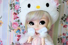 *Hiding*   by Siniirr Hello Kitty, Teddy Bear, Toys, Animals, Activity Toys, Animales, Animaux, Clearance Toys, Teddy Bears