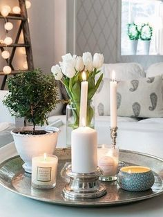 Image result for decorating with trays