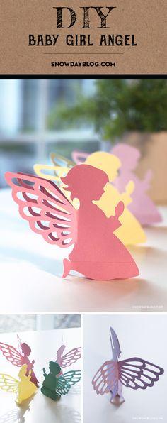Baby Girl Angel Pink Source by Pink Crafts, Crafts For Girls, Easter Crafts For Kids, Baby Crafts, Paper Crafts Origami, Diy Paper, Baby Engel, Diy Angels, Paper Angels Diy