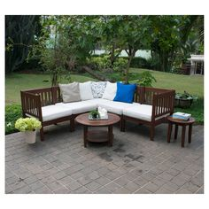 Willow Bay Patio Sectional Seat - Corner. Image 3 of 3.