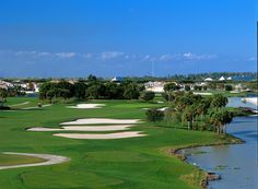 Heron Bay Golf Club, Florida. TPC-course in perfect condition. Lots of big bunkers and water all around. Hit the fairways and you'll be just fine :-)