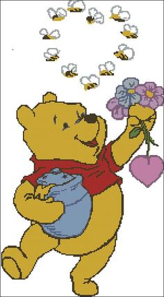 "Disney cross-stitch pattern ""Winnie the Pooh"""