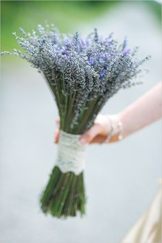A stunning lavender wedding bouquet captured by Jennography for #wchappyhour