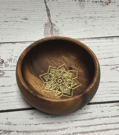 A personal favorite from my Etsy shop https://www.etsy.com/listing/266920529/jewlery-bowl-ring-dish-wooden-mandala