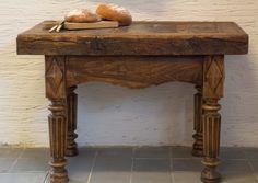 Antieke Franse slagersblok