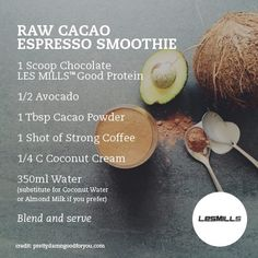 Here's a great #healthy smoothie recipe from #LesMills. **Good Protein currently available only in the USA