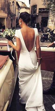 27 Bridal Inspiration: Country Style Wedding Dresses ❤  country style wedding dresses sheath simple open back with cape sleeves calista one #weddingforward #wedding #bride Wedding Dress Silk, Top Wedding Dresses, Wedding Dress Trends, Bridal Dresses, Lace Dress, Wedding Ideas, Wedding Hacks, Wedding Bride, Dream Wedding