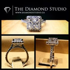 Here is another amazing @diamondboi ™ halo design. This design was made with a 1.70ct princess cut. It was placed on a tight Italian pave cushion halo. The shank was made thin and the gallery I incorporated diamonds on the forks. Yay or nay? This is what I do. #diamond #diamonds #wedding #weddings #engagement #ring #rings #bride #brides #jewellery #jewelry #halo #princess #diamondboi