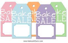 free! bake sale printables & posters to print!!