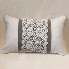 another doily pillow