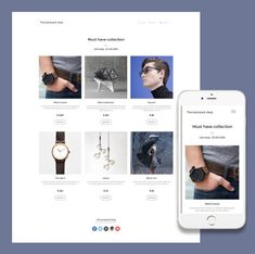 Have a responsive online shop with the website builder from ItSoEzi