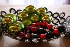 Make this bowl with washers and beads