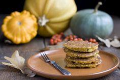 Receta de pancakes de calabaza.  En Colombia se llama ahuyama, la calabaza es diferente.