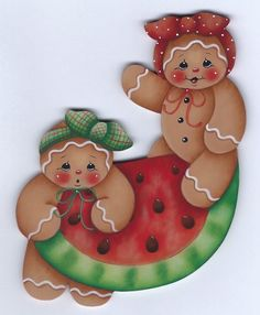 I cut this gingerbread magnet from oak. Gingerbread Decorations, Gingerbread Ornaments, Christmas Gingerbread, Christmas Printables, Christmas Crafts, Christmas Ornaments, Pinterest Pinturas, Wood Crafts, Diy And Crafts