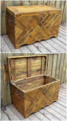 pallets wooden chest