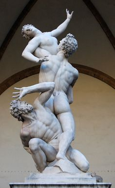 The Rape of the Sabine Women, Florence. A truly remarkable piece of art. I couldn't take my eyes of it