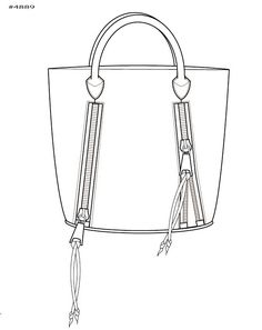 Handbag Illustration by Kim Honeycutt at Coroflot.com