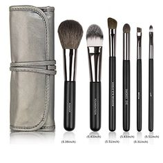 Realife 6Pcs Makeup Brushes Set for Eye Makeup and Face Kabuki Foundation Kits with Cases Black >>> You can find out more details at the link of the image.