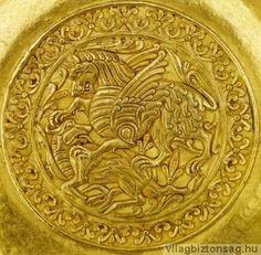 """A nagyszentmiklósi aranykincs (""""avarok aranya"""") - Képtár - G-Portál Hungary History, Alien Concept, Bronze Mirror, Ancient Art, 9 And 10, Folk Art, Symbols, Antiques, Silver"""