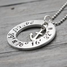Coordinate Anchor Washer Necklace