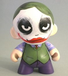 Joker Munny--why so serious? #villain make your own--customizable kidrobot munny toys available at www.lazydazeco.com!