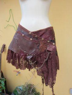 vintage inspired foresty belt/tutu/skirt by wildskin Costume Viking, Steampunk Costume, Steampunk Fashion, Look Fashion, Womens Fashion, Fashion Design, Fancy Dress, Dress Up, Festival Outfits