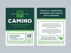 Camino label details by Ryan Prudhomme #Design Popular #Dribbble #shots