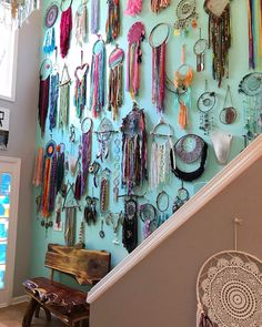 "Mallory ⭐️ Atlanta Etsy Artist on Instagram: ""Today we begin to dismantle the dreamcatcher wall. 🙈🌈💜💕🌸 we have had so much fun collecting these over the last few years, can't wait to…"""