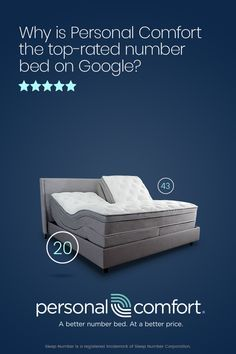 Personal Comfort The Highest Rated Number Bed On Google Compare To Sleep Number And Save Up To 60 Today Sleep Number Bed Frameless Sliding Shower Doors Bed