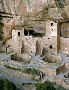 Mesa Verde National Park, Colorado.Many Native American cliff dwelling ruins are in the park, the remnants of a thriving culture that disappeared about 1000 AD, for reasons that are still unclear.