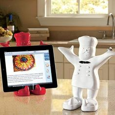 Claude the Kitchen Companion - holds your cook book or iPad / tablet #product_design