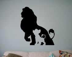 Simba Lion King Vinyl Wandtattoo Disney Cartoons Wandaufkleber Home Wall Kids Kinderzimmer , Nursery Stickers, Wall Stickers Murals, Vinyl Wall Decals, Disney Cartoons, Retro Cartoons, Cartoon Silhouette, The Lion King, Simba Lion, Disney Wall Decals