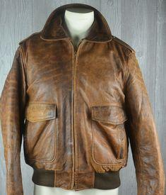 Leather Bomber Jacket Distressed Men's 42 Lamb Leather Quilted Lining #Unbranded #Bomber Bomber Jackets, Jacket Men, Lamb, Mens Fashion, Leather, Style, Men's Coats, Moda Masculina, Swag