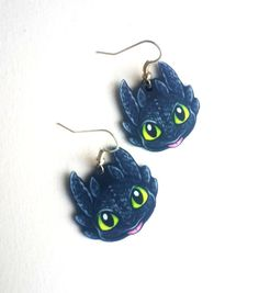 My own handmade jewelry design  =========================================== The earrings are inspired the beloved dragon protagonist Toothless the