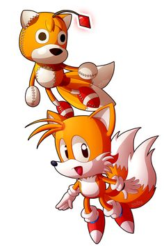 Tails Doll and Tails by Zoiby on DeviantArt Bts Doll, Super Shadow, Sonic The Hedgehog, Tails Doll, Doll Drawing, Creepypasta Characters, Doll Toys, Sock Dolls, Sonic Fan Art