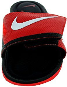 best service 13b4b 085e8 Amazon.com   NIKE Men s Solarsoft Comfort Slide Athletic Sandal, Challenge  Red White