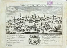 Sanlúcar la Mayor, Sevilla province, Spain.  From 17th century book.