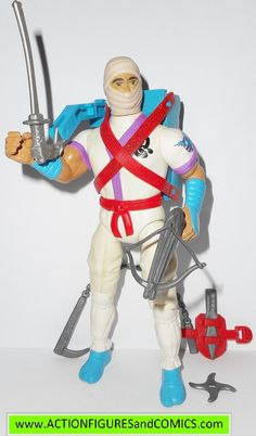 Coleco toys action figures for sale to buy RAMBO: Forces of Freedom vintage series 1986 WHITE DRAGON NINJA 100% COMPLETE with all weapons/accessories Condition: Overall a very nice peice. nice paint,