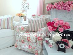 My Shabby Chic Home ~ Romantik Evim: @ My Living Room - Oturma Odasi
