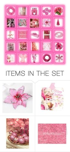 """Pink christmas"" by gothbear13 ❤ liked on Polyvore featuring art"