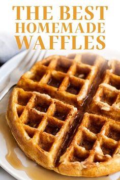 Waffle Batter Recipe, Best Waffle Recipe, Waffle Recipes, Baking Recipes, Dessert Recipes, Cheesecake Recipes, Brunch Recipes, Cookie Recipes, Best Breakfast Recipes