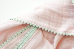 DIY Pom Pom Swaddle Blankets - see kate sew