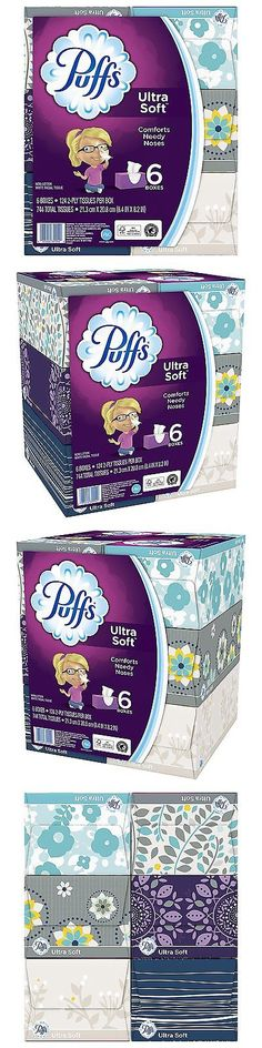 Facial Tissues 179199: Puffs Ultra Soft And Strong Facial Tissues, 6 Family Boxes Pack Of 4, 124 Tissues -> BUY IT NOW ONLY: $47.07 on eBay!