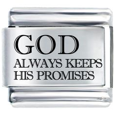 Bracelet God Keeps Promises By Price Italian Charm Laser Italian Charm Pugster.com