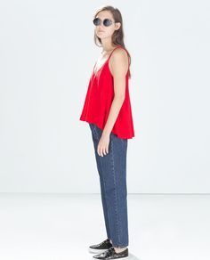 ZARA - COLLECTION AW14 - BUTTONED TOP