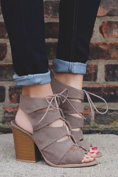 Hot - Taupe Gladiator Style Caged Peep Toe Heel Barnes-01A – UOIOnline.com: Women's Clothing Boutique